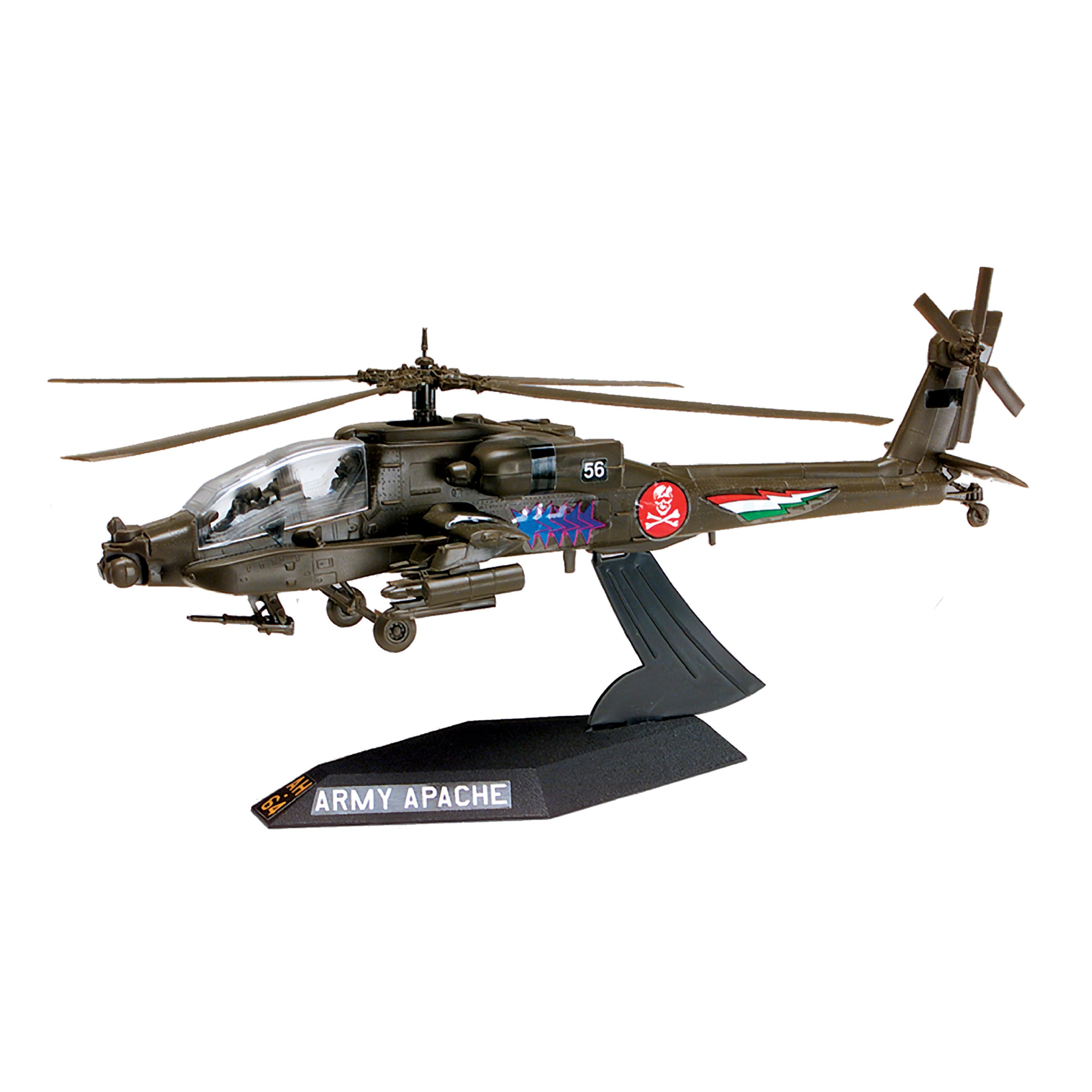 Revell-Monogram Revell Plastic Model Kit-AH-64 Apache Helicopter Desktop 1:72 at Sears.com