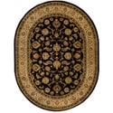 Oriental Sarouk Formal Black Area Rug (5'3 x 6'10 Oval)