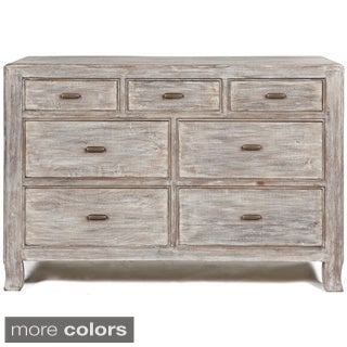 Cosmo Grey-White 7-Drawer Dresser