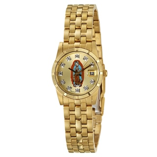 Bulova Women's 'Dress' Yellow-goldplated Religious Motif Watch