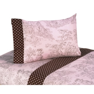 Sweet JoJo Designs 200 Thread Count Toile Bedding Collection Sheet Set