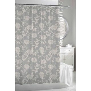 Garden Birds Grey/ Beige Shower Curtain