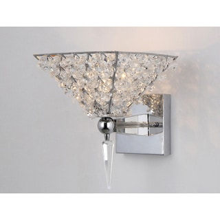 Hades Triangular Clear Crystal Wall Lamp