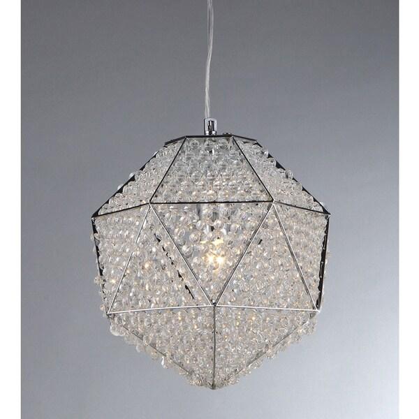 'Poseidon' Chrome and Crystal 1-light Chandelier