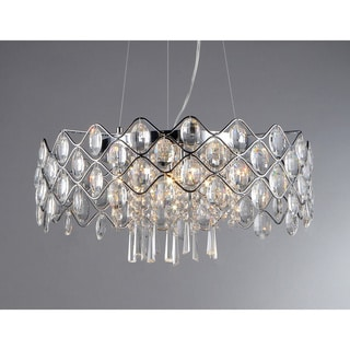 'Persephone' Chrome and Crystal 10-light Chandelier