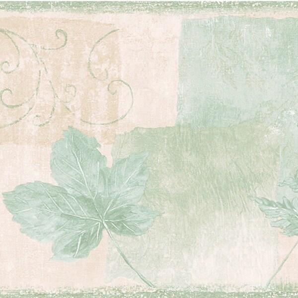 Green Leaves Border Wallpaper