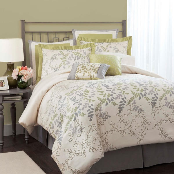 Lush Decor Joslyn 8-piece Green Comforter Set