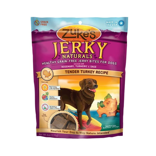 Zukes Jerky Naturals Turkey Dog Treats
