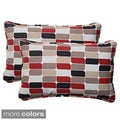 Pillow Perfect Trillium Polyester Rectangular Corded Outdoor Throw Pillows (Set of 2)