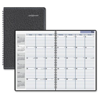 "Recycled Monthly Academic Planner, Black, 7 7/8"" x 11 7/8"", 2015"