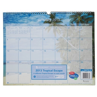 Tropical Escape Monthly Wall Calendar 2015