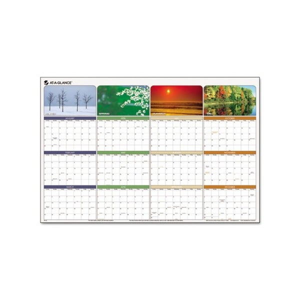 Seasons In Bloom Erasable Laminate 2015 Planner