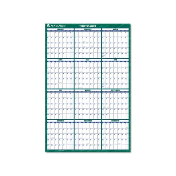 Erasable Recycled Laminate 2015 Vertical Wall Planner