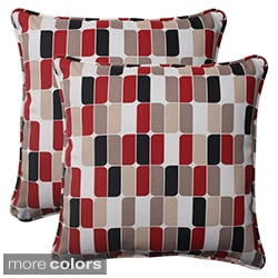 Pillow Perfect Trillium Polyester Square Corded Outdoor Throw Pillows (Set of 2)