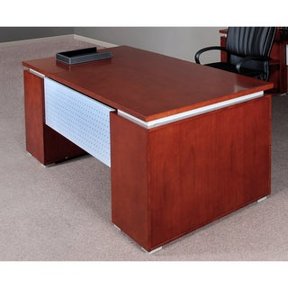 Mayline Eclipse Series 72-inch Bowfront Double Pedestal Desk