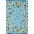 Hand-hooked Escape Coral Dive Outdoor Aqua Rug (2' x 4')