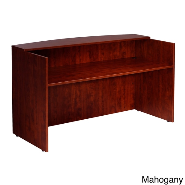 Boss 71-inch Cherry or Mahogany Finished Receptionist Desk