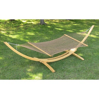 Weather-resistant 60-inch Polyester Rope Hammock