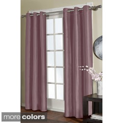 Jaclyn Love Faux Silk 84-inch Curtain Panel Pair