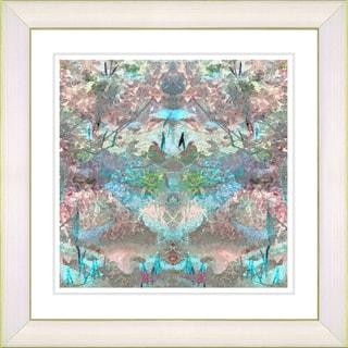 Studio Works Modern 'Garden Bouquet - Turquoise' Framed Print