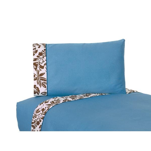 Sweet JoJo Designs 200 Thread Count Surf Collection Tropical Hawaiian Bedding Sheet Set