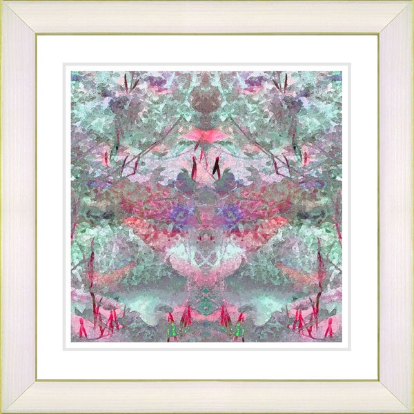 Studio Works Modern 'Garden Bouquet - Rose' Framed Print