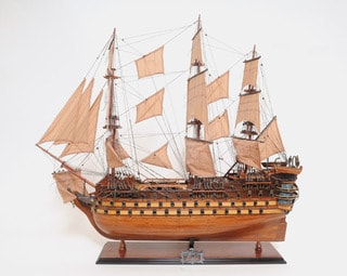 Old Modern Handicrafts La Bretagne Model Ship