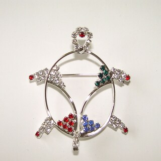 Turtle Wire and Crystal Pin