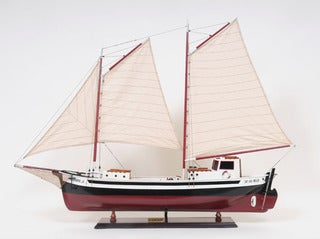 Old Modern Handicrafts La Gaspesienne Painted Model Ship