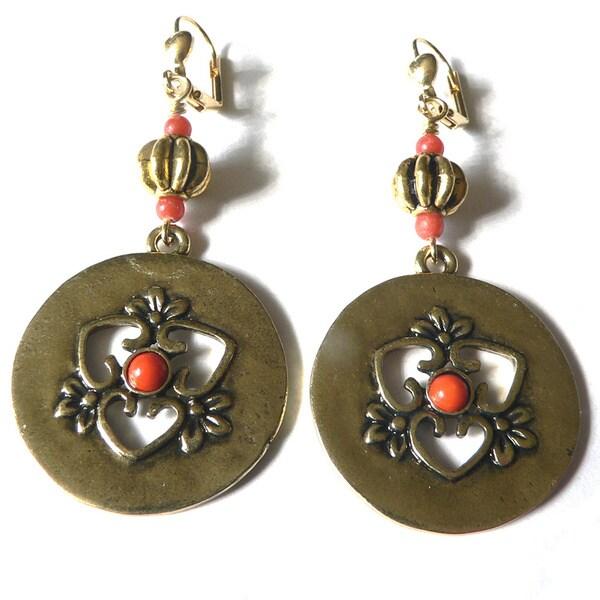 Carmen' Medallion Dangle Earrings 10823193
