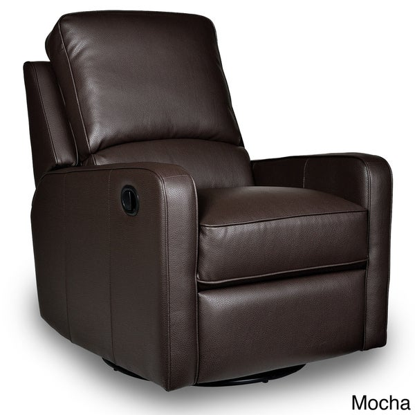 Perth Leather Swivel Glider Recliner 15234359