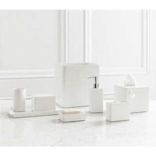 Solid Lacquer White Bath Accessory Collection