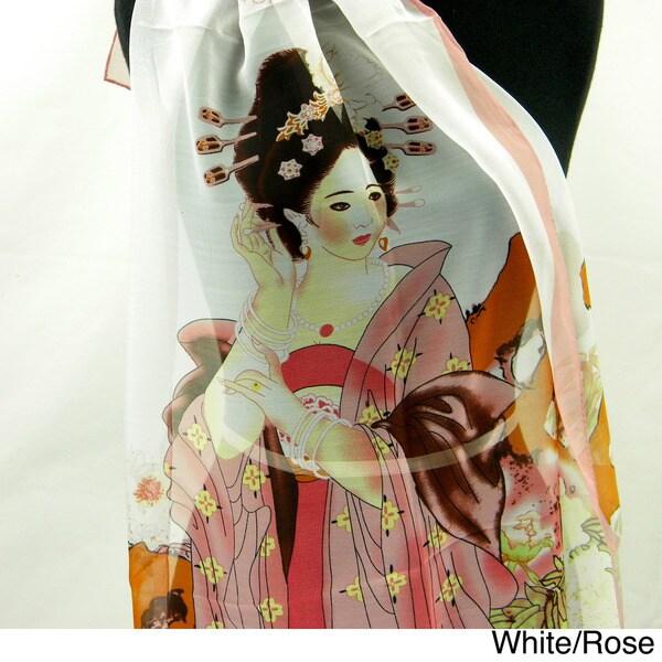 Giesha Girl Silk Fashion Scarf