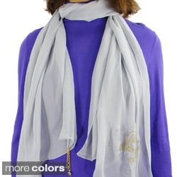 "Spring/ Summer Fashion Scarf ""LOVE"" with Charms"