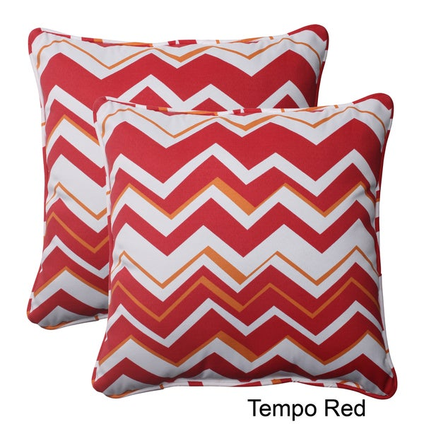Pillow Perfect Tempo Polyester Square Corded Outdoor Throw Pillows (Set of 2)