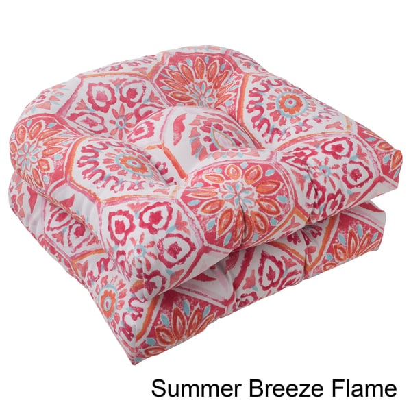 Pillow Perfect Summer Breeze Polyester Tufted Wicker