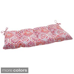 Pillow Perfect 'Summer Breeze' Tufted Outdoor Loveseat Cushion