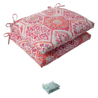 Pillow Perfect 'Summer Breeze' Outdoor Squared Seat Cushions (Set of 2)
