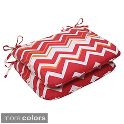 Pillow Perfect Tempo Polyester Rounded Outdoor Seat Cushions (Set of 2)