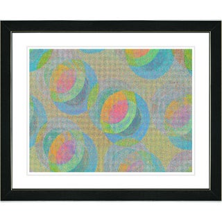 Studio Works Modern 'Circle Series - Orange' Framed Print