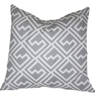 Taylor Marie Maze Pattern Grey and White Throw Pillow Cover