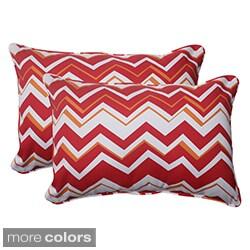 Pillow Perfect Tempo Polyester Oversized Rectangular Corded Outdoor Throw Pillows (Set of 2)