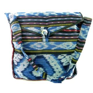 Woven Cross Body Messenger Style Bag