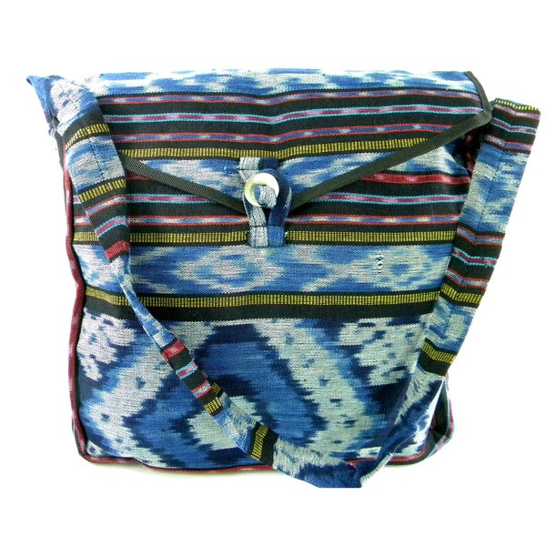 Woven Cross Body Messenger Style Bag