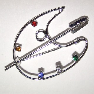Detti Originals Palette Crystal and Wire Pin