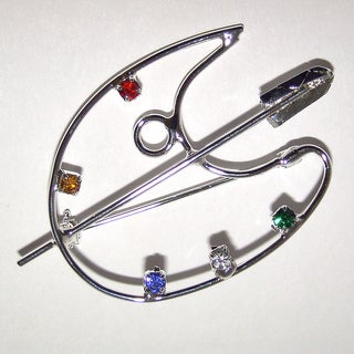 Palette Crystal and Wire Pin