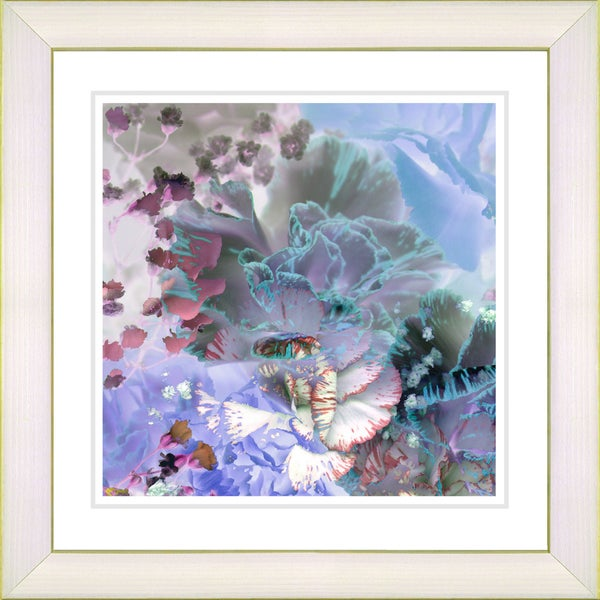 Studio Works Modern 'Cloud Blue Carnation' Framed Print