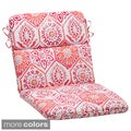 Pillow Perfect 'Summer Breeze' Outdoor Rounded Chair Cushion