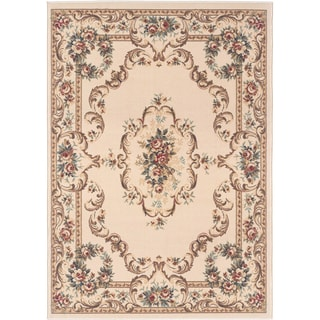 Lagoon 104612 Traditional Beige Area Rug (7'6 x 9'10)
