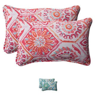 Pillow Perfect 'Summer Breeze' Outdoor Rectangular Throw Pillows (Set of 2)